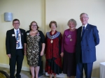 At Kenilworth Charter with Christione, the Mayor and club president Henry and his wife