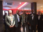 At Bushby's Charter with PDG Femi, the Mayor and President Dullabhbhai