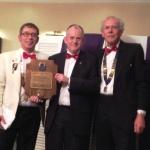 140404 - Charter - Towcester - 010 - Simon presenting Melvin Jones Award